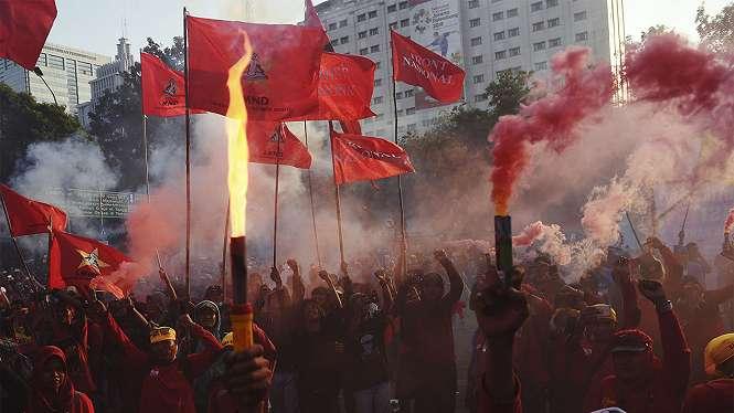 Demo Hari Buruh di Jakarta