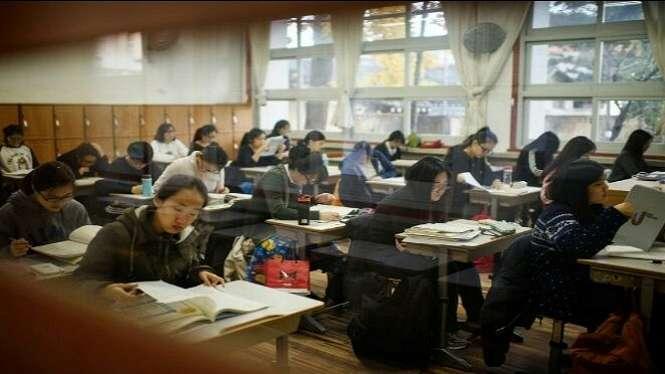 Siswa yang sedang menjalani Tes CSAT