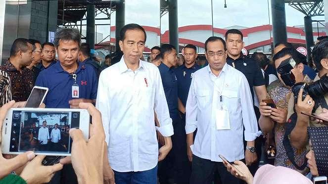 Ditemani Menhub, Jokowi hadiri silaturahmi nasional ojek online