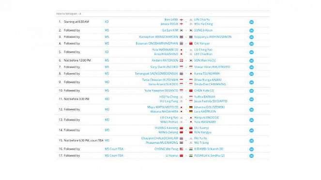 Jadwal Indonesia Masters 4