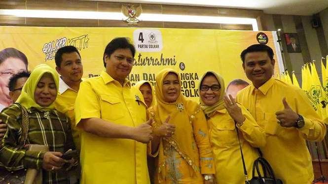 Ketua Umum Airlangga Hartarto bersama elite Golkar.