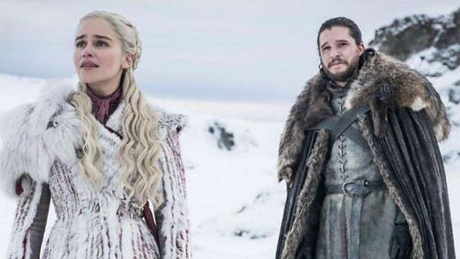 Jon Snow dan Daenerys Targaryen dalam Game of Thrones.
