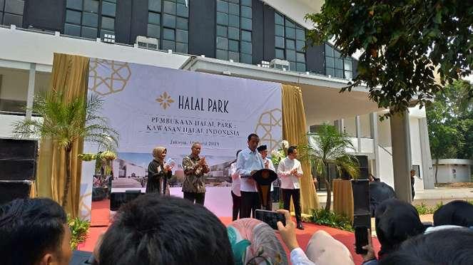 Pembukaan Halal Park di GBK, Senayan.