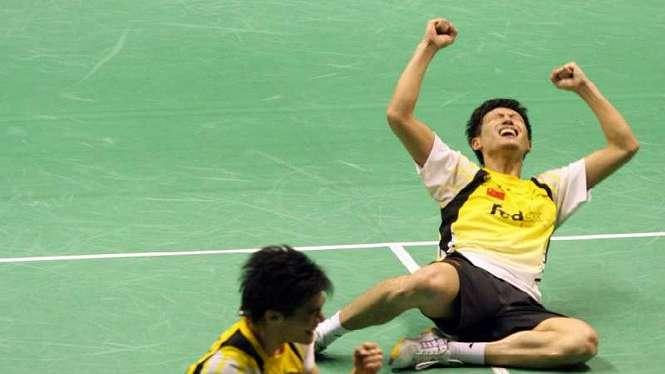Fu Haifeng/Cai Yun di Sudirman Cup 2009.