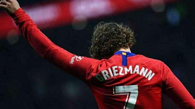 Antoine Griezmann saat masih membela Atletico Madrid
