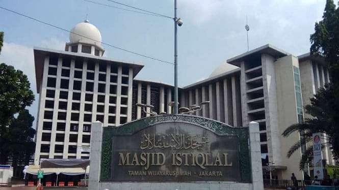 Masjid Istiqlal di kawasan Jakarta Pusat.