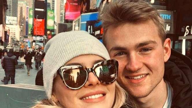 Bek Amsterdam, Matthijs de Ligt, bersama kekasihnya, Annekee Molenaar