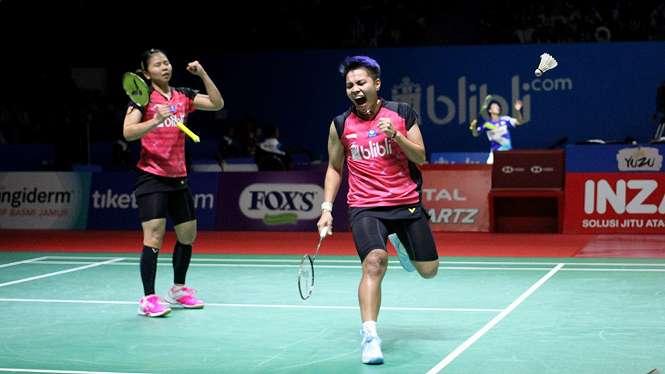 Greysia Polii/Apriyani Rahayu Melaju ke Babak Kedua Indonesia Open 2019