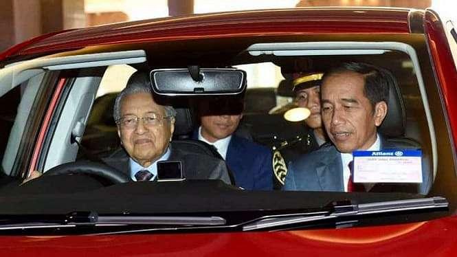 Presiden Jokowi dan Perdana Menteri Malaysia, Mahathir Mohamad