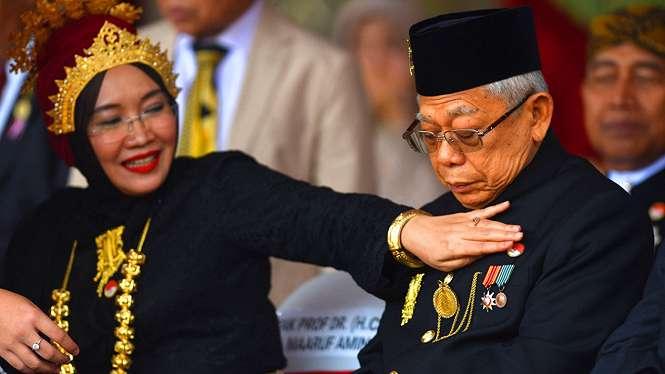 Ma ruf Amin bersama Istrinya, Wury Estu Handayani.