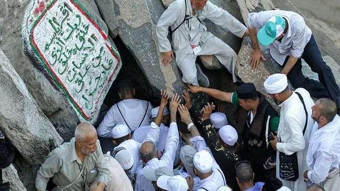 Gua Hira di Jabal Nur Mekah dipenuhi para peziarah dan jemaah haji