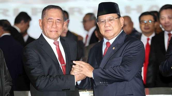 Ryamizard Ryacudu dan Prabowo Subianto.