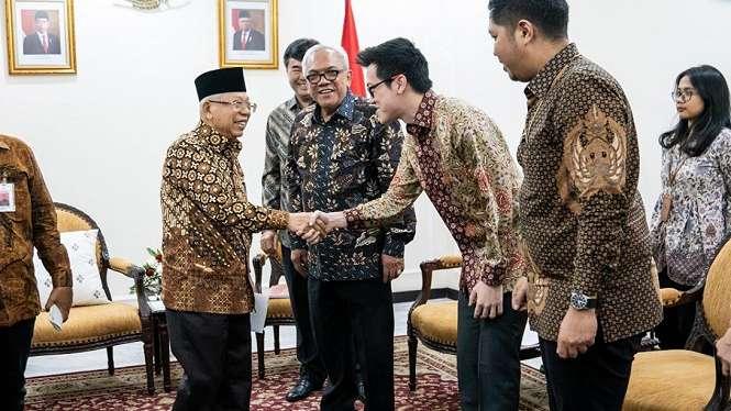 Silaturahmi antara Wakil Presiden Republik Indonesia Prof. Dr. K.H.Ma   ruf Amin dan Direktur Shopee Indonesia, Handhika Jahja, Rabu 20 November 2019 di Kantor Wakil Presiden RI