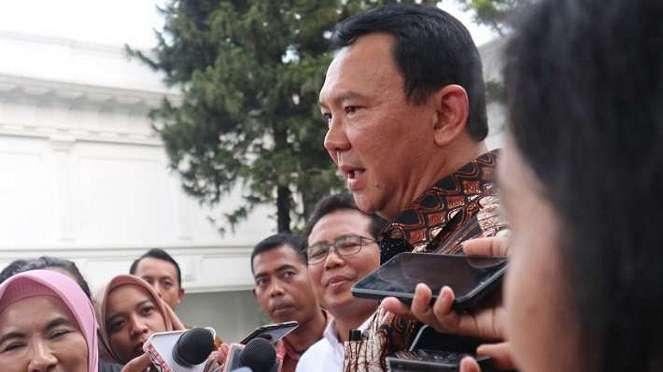 Komisaris Utama Pertamina, Basuki Tjahaja Purnama alias Ahok di Istana Negara.