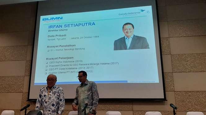 Irfan Setiaputra ditunjuk sebagai Dirut PT Garuda