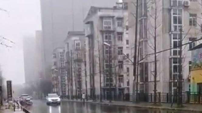 Penampakan Kota Wuhan, China, setelah wabah Virus Corona menyebar.