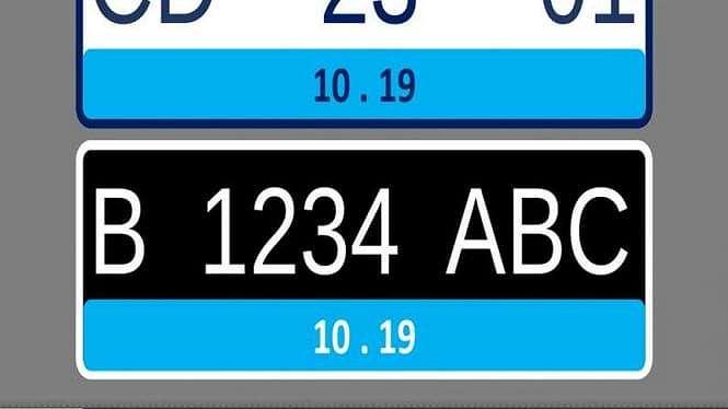 Konsep plat nomor baru untuk kendaraan listrik