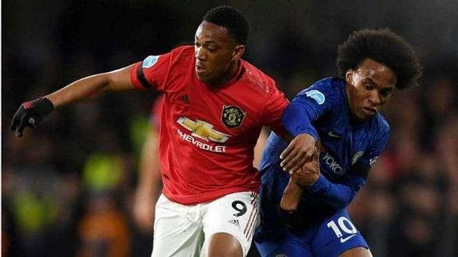 Laga Premier League 2019/2020 antara Chelsea kontra Manchester United
