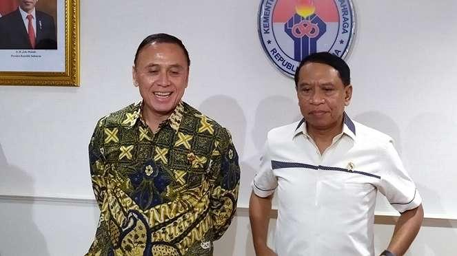 Ketua Umum PSSI, Mochamad Iriawan bersama Menpora, Zainudin Amali