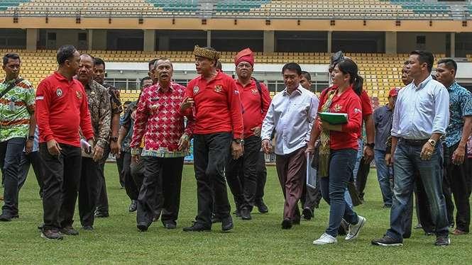Ketum PSSI, Mochamad Iriawan saat ke Stadion Utama Riau