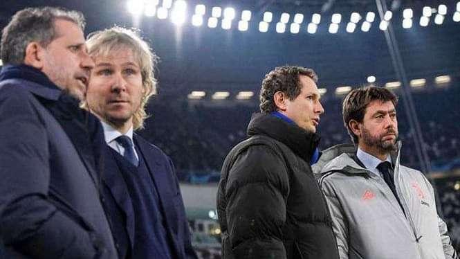 Para petinggi Juventus, Andrea Agnelli (paling kanan)