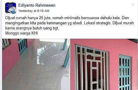 Rumah Ini Dijual Rp 25 Juta, Lokasinya Bikin Netizen Berpikir Ulang