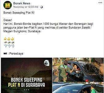 Bonek Sweeping Plat N, Aksinya Justru Bikin Netizen Bangga