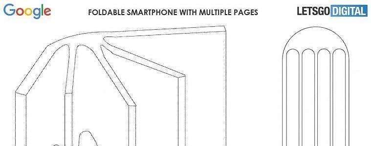 Google Patenkan Smartphone Lipat dengan Desain Berhalaman, Mirip Buku Tulis