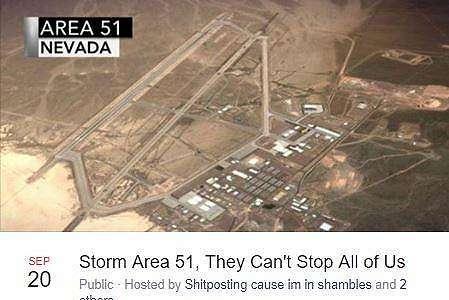 Jutaan Netizen Heboh Membahas Area 51, Meme Kocaknya Viral di Twitter