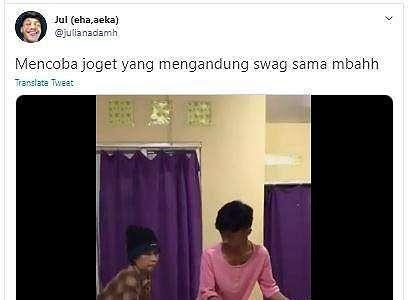 Nenek-nenek Ini Jago Goyang SWAG, Netizen Auto Salfok