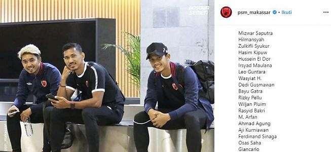 Tak Ada Marc Klok, PSM Makassar Bawa 19 Pemain untuk Hadapi Lalenok United