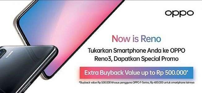 Penjualan Perdana, Oppo Buka Program Tukar Tambah Reno3