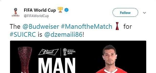 Buka Jalan Swiss ke 16 Besar, Dzemaili Jadi Man of the Match