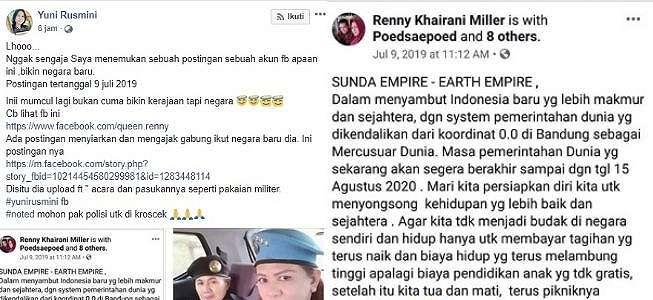 Foto Ini Viral, Keraton Agung Sejagat dan Sunda Empire Saling Berhubungan?