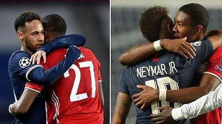 Momen Neymar yang Balas Peluk Alaba usai PSG ke Semifinal Liga Champions