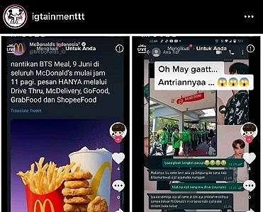Viral Kerumunan Ojol Pesan BTS Meal McDonald's, Warganet: Awas Kluster McdxBTS