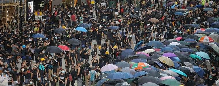 Demonstrasi Hong Kong, Polisi Tembakkan Gas Air Mata dan Peluru Karet