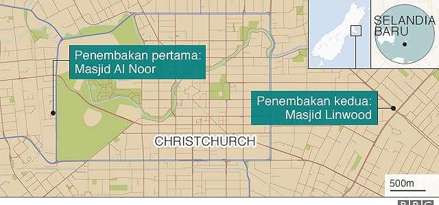 Penembakan di dua masjid Selandia Baru: Enam WNI berada di masjid saat peristiwa berlangsung