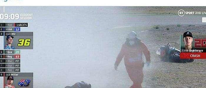 Kondisi Fabio Quartararo yang Alami Crash Highside Saat FP3 MotoGP Aragon 2020