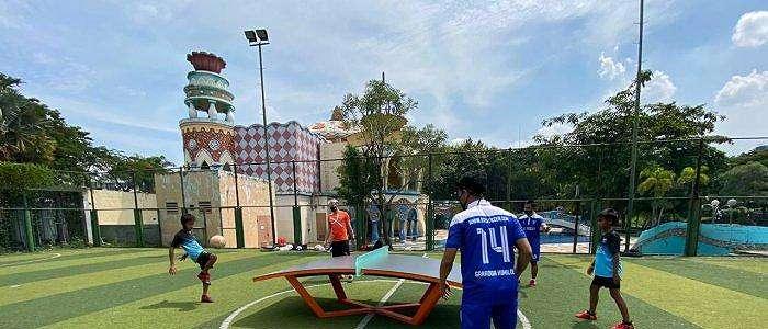 STC Soccer School Minta Program Latihan Teqball dari Pelatih dari Hungaria Bence Forgacs