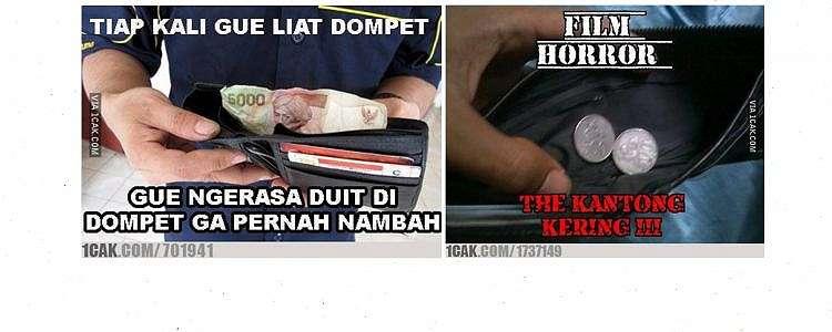 10 Meme lucu isi dompet ini bikin jiwa miskin ngangguk setuju