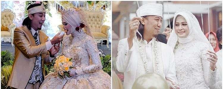 8 Momen pernikahan kedua Ade Jigo, penuh kebahagiaan
