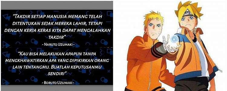 40 Kata-kata motivasi Naruto dan Boruto, bikin semangat raih mimpi