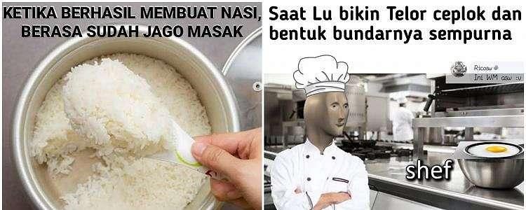 10 Meme berhasil masak, berasa koki andal