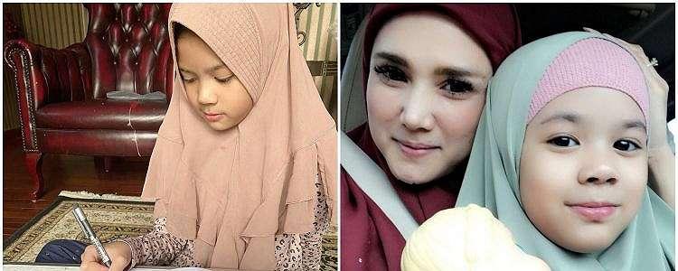 7 Potret Safeea Ahmad berkerudung, cantik seperti ibunya