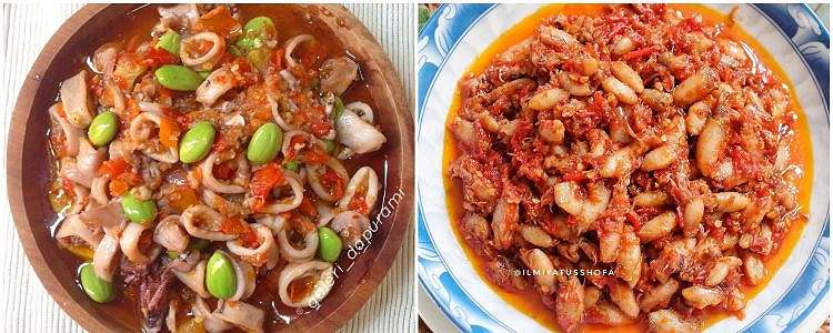 8 Resep sambal cumi, enak, pedas, praktis dan bikin nagih