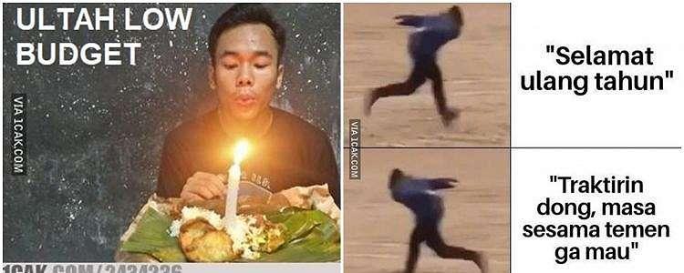 10 Meme lucu hari ulang tahun, bikin nyengir waktu tiup lilin