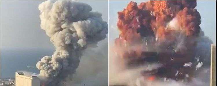 5 Potret ledakan di Beirut Lebanon, disebut mirip bom Hiroshima
