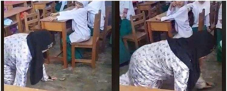 Tak terima anak dihukum, wali murid ini minta guru merangkak di kelas