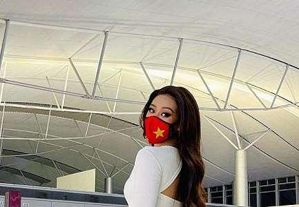 6 Potret Miss Universe Vietnam 2020 pakai APD di pesawat, tuai sorotan